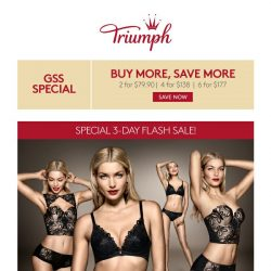 [Triumph] LAST DAY OF FLASH SALE – Grab now!