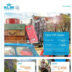 [KLM] Take-off Deals from SGD 800 all-in!