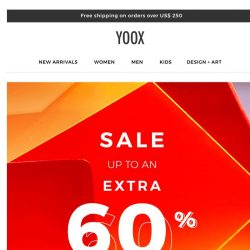 [Yoox] S-A-L-E: starting today an EXTRA 60% OFF
