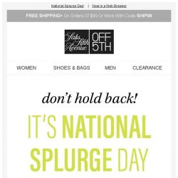 [Saks OFF 5th] Splurge-worthy: up to 70% OFF Balmain, Versace & more! + We picked styles just for YOU!