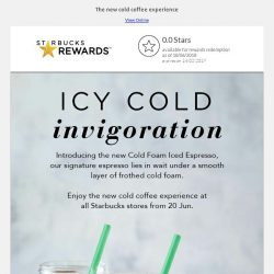 [Starbucks] Introducing new cold foam beverages at Starbucks