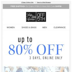 [Saks OFF 5th] Up to 80% off Rag & Bone, Rebecca Taylor & MORE? Yes, please!