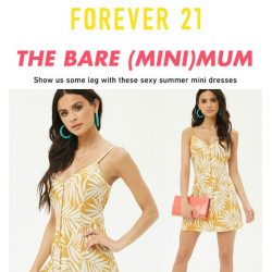 [FOREVER 21] LESS IS MORE