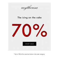 [mytheresa] Sale now up to 70% off.We're going up...
