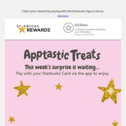 [Starbucks] This week's treat is waiting…😎