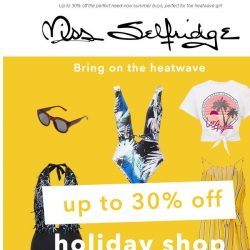 [Miss Selfridge] 1 day only, up to 30% off ALL holiday shop 🏝