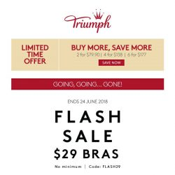 [Triumph] ⚡️ FLASH SALE – ENDS SOON!