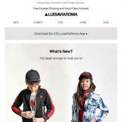 [LUISAVIAROMA] New Kids Arrivals: DSquared2, Il Gufo, Givenchy and more…