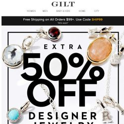 [Gilt] 24 Hours Only: Extra 50% Off Designer Jewelry Feat. Effy