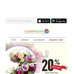 [Floweradvisor] What could preserved for almost 5 years and have 20% Off? Check it out!
