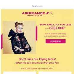 [AIRFRANCE] It's time to enjoy our Flying Fares offers