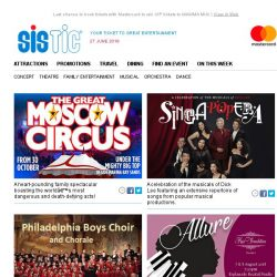 [SISTIC] The Great Moscow Circus returns to Singapore for the first time in over ten years!