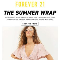 [FOREVER 21] WRAP it up...