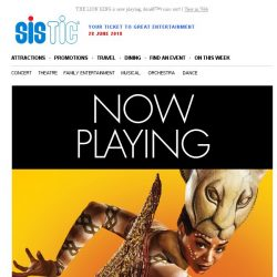 [SISTIC] THE LION KING is now playing, don't miss out!