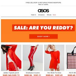 [ASOS] Sale: well red
