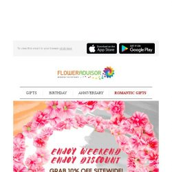 [Floweradvisor] Enjoy Your #weekendvibe With Weekend Special Discount. Hurry Now!