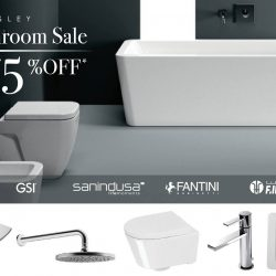 Hemsley: The Great Bathroom Sale 2018 with Up to 75% OFF Designer WCs, Basins, Tap Fittings, Showers & More!