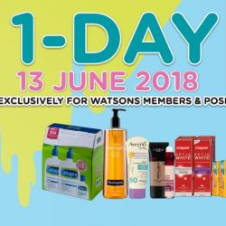 Watsons: Members' Only 1 Day Sale In Stores & Online!