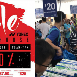 YONEX: Warehouse Sale 2018 Up to 80% OFF Apparel, Badminton & Tennis Racquets, Footwear & more