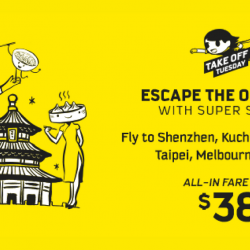 Scoot: Take Off Tuesday Sale with 40 Destinations on Sale from $38!