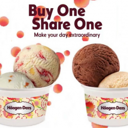 Häagen-Dazs: Buy 1 Get 1 Double Scoop Ice Cream FREE!