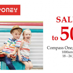 Poney: Atrium Sale with Up to 50% OFF on Kids Apparel at Compass One