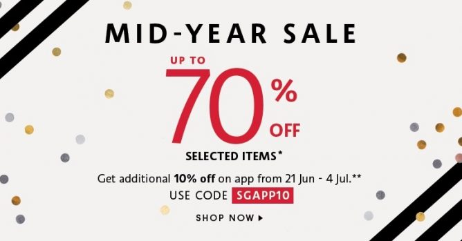 Sephora Singapore: Mid-Year Sale with Up to 70% OFF +