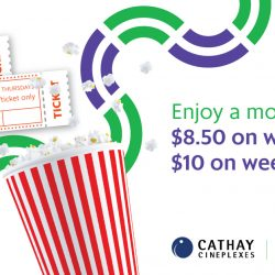 Cathay Cineplexes: Enjoy a Movie for Just $8.50 on Weekdays & $10 on Weekends with GrabPay!