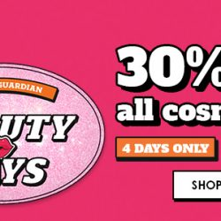 Guardian: Enjoy 30% OFF ALL Cosmetics In Stores & Online!