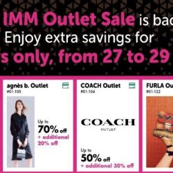 IMM Outlet Mall: Greater Savings Outlet Sale with Up to 70% OFF Adidas, Coach, Kate Spade New York, Furla & More!
