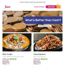 [Fave] Wah! Kungfu Cash Vouchers for Chinese Cuisine & More!