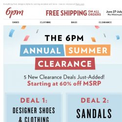 [6pm] New Clearance Deals inside!