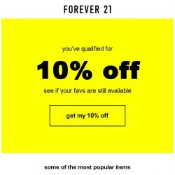 [FOREVER 21] 10% OFF... want it NOW?
