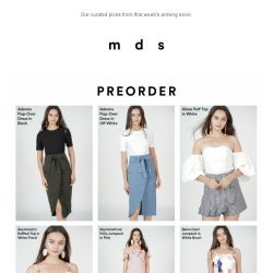[MDS] First Hand access to arriving soon   Shop the looks now