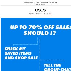 [ASOS] The up-to-70%-off sale's got game