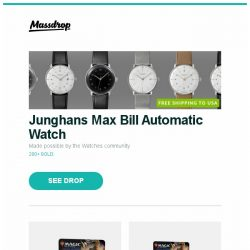 [Massdrop] Junghans Max Bill Automatic Watch, MTG Core 2019 Booster Box Preorder, MTG Core 2019 Booster Box + Fat-Pack Preorder and more...