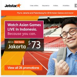 [Jetstar] ✈ Experience 2018 Asian Games LIVE in Indonesia and more!