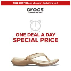 [Crocs Singapore] 【1 DEAL 1 DAY 】 Capri Flip 50% off today ONLY!