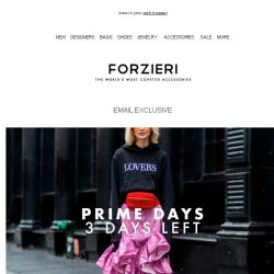 [Forzieri] 3 Prime Days left for 9200+ designs at Forzieri
