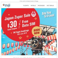 [Zuji] BQ.sg: Japan Zuper Sale - Cash Coupon & Free Data SIM