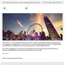 [Cathay Pacific Airways] Fly to Hong Kong from SGD248 all-in with American Express® Cards