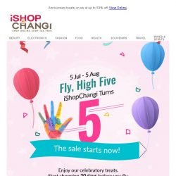 [iShopChangi] High ✋ SALE-bration!!