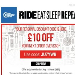 [Chain Reaction Cycles] How About £10 OFF Your Next Order over £60? 🔓
