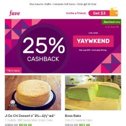 [Fave] Exclusive: Have your cake and eat it at great discounts too!