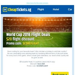 [cheaptickets.sg] ⚽ World Cup 2018 Flight Deals | Save $20 on flights!