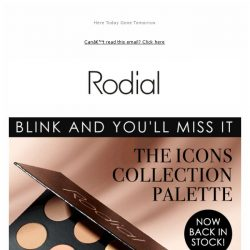 [RODIAL] Back In Stock: The Icons Collection Palette