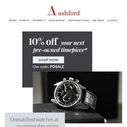 [Ashford] Discover your newest luxury keepsake