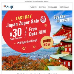 [Zuji] BQ.sg: Japan Zuper Sale - Final Day