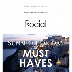 [RODIAL] Summer Holiday ☀️ Must-Haves
