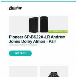 [Massdrop] Pioneer SP-BS22A-LR Andrew Jones Dolby Atmos - Pair, Vortex POK3R Mechanical Keyboard (Poker 3), Orient SpeedTech STI Automatic Watch and more...